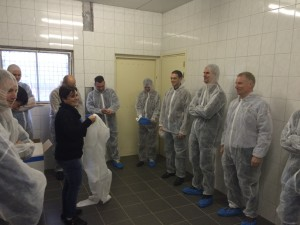 Members of the Value Creation Group preparing to visit a pig farm installed with PLF technology.