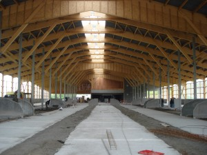 Barn interior of Marcenat (photo: Bruno Meunier)