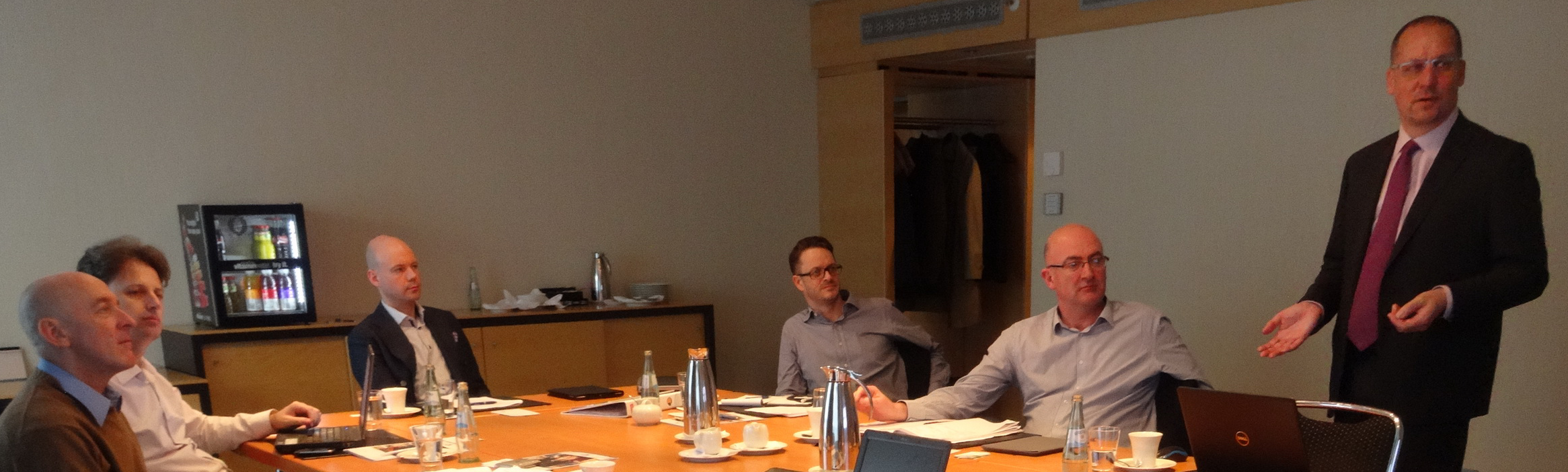 Heiner Lehr (far right) presents to GLOBALG.A.P. technical livestock committee .